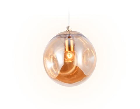 Подвесной светильник TR3510 GD/TI золото/янтарь E27 max 40W D200*1200