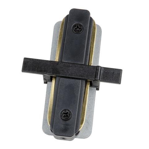 UBX-Q123 R11 BLACK 1 POLYBAG Соединитель для 2-х шинопроводов типа R, прямой внутренний. Однофазный. Черный. ТМ Volpe