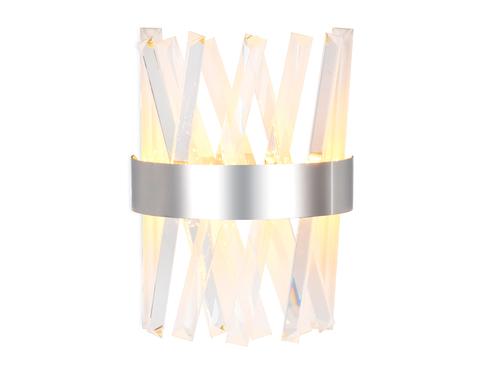 Настенный светодиодный светильник с хрусталем TR5322 CH/CL хром/прозрачный 24W 285*260*124