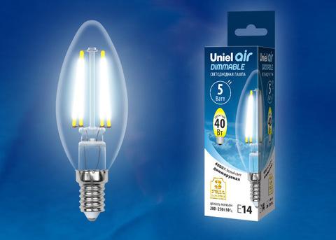LED-C35-5W/NW/E14/CL/DIM GLA01TR Лампа светодиодная диммируемая. Форма