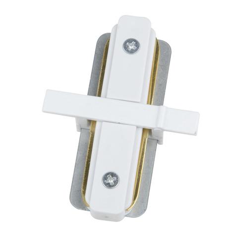 UBX-Q123 R11 WHITE 1 POLYBAG Соединитель для 2-х шинопроводов типа R, прямой внутренний. Однофазный. Белый. ТМ Volpe