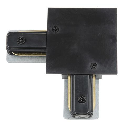 UBX-Q123 R21 BLACK 1 POLYBAG Соединитель для шинопроводов типа R, L-образный. Однофазный. Черный. ТМ Vople