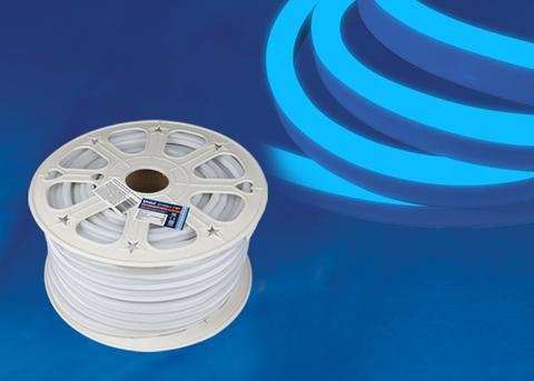 ULS-N21-2835-120LED/m-8mm-IP67-220V-8W/m-50M-BLUE Светодиодная гибкая герметичная лента. NEON. Бобина 50 м. Синий свет. TM Uniel.