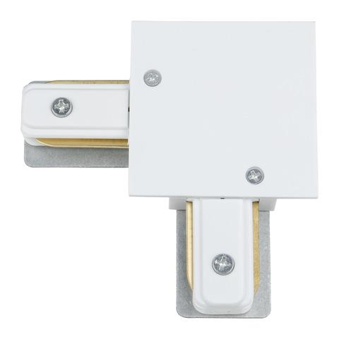 UBX-Q123 R21 WHITE 1 POLYBAG Соединитель для шинопроводов типа R, L-образный. Однофазный. Белый. ТМ Vople