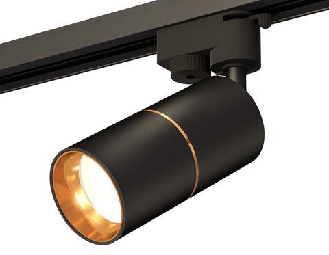 Комплект трекового однофазного светильника XT6302020 SBK/PYG черный песок/золото желтое полированное MR16 GU5.3 (A2521, C6302, A2062,  C6302, N6113)