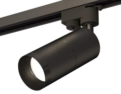 Комплект трекового однофазного светильника XT6302011 SBK/PBK черный песок/черный полированный MR16 GU5.3 (A2521, C6302, A2061, C6302, N6131)