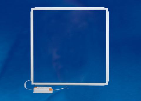 ULO-RF6060-38W/6500K REFRAME WHITE Светильник светодиодный потолочный рамка 595*595мм. Дневной свет (6500K). Корпус белый. В комплекте с и/п. ТМ Uniel.