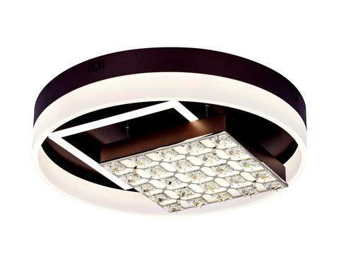 Потолочный светодиодный светильник с пультом FA145 CF кофе 104W D500*120 (ПДУ РАДИО 2.4)