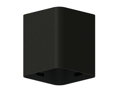 Корпус светильника накладной для насадок 70*70mm C7813 SBK черный песок 70*70*H80mm MR16 GU5.3