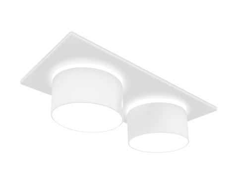 Встраиваемый точечный светильник TN330/2 vWH белый песок GU5.3 182*92*60