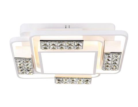 Потолочный светодиодный светильник с пультом FA144 WH белый 96W 500*500*110 (ПДУ РАДИО 2.4)