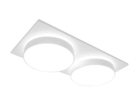 Встраиваемый точечный светильник TN318/2 SWH белый песок GU5.3 182*92*40