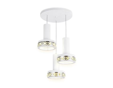 Подвесной светодиодный светильник FA9492/3 WH/CH белый/хром 54W 4200K D460*790 (без ПДУ)