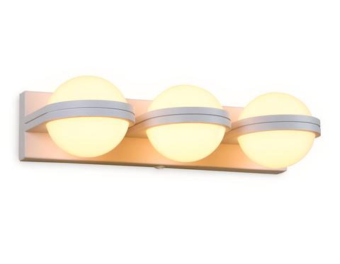 Настенный светодиодный светильник с выключателем FW557/3 SWH белый песок LED 3000K 15W 370*80*138