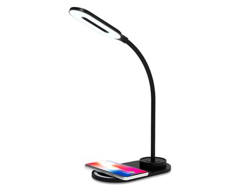 Светодиодная настольная лампа с беспроводной зарядкой DE589 BK черный LED 3000-6400K 3W