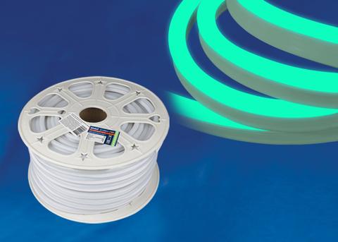 ULS-N21-2835-120LED/m-8mm-IP67-220V-8W/m-50M-GREEN Светодиодная гибкая герметичная лента. NEON. Бобина 50 м. Зеленый свет. TM Uniel.