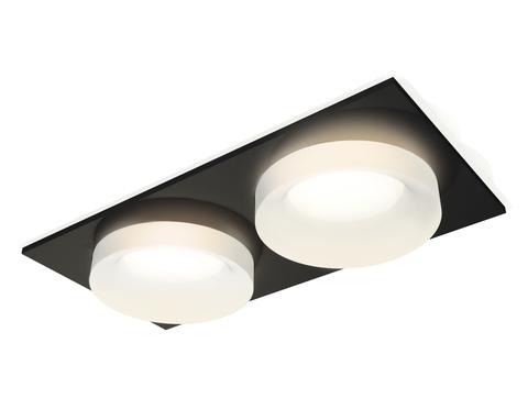 Комплект встраиваемого светильника XC7636044 SBK/FR черный песок/белый матовый MR16 GU5.3 (C7636, N7165)