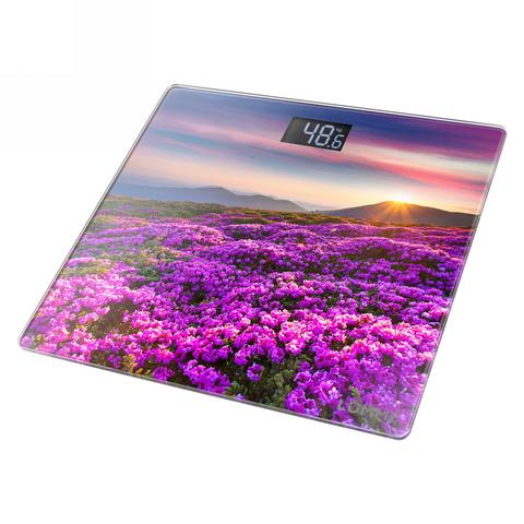 Весы напольные сенсор LUMME LU-1328  цветочное поле