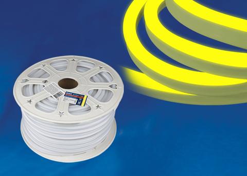ULS-N21-2835-120LED/m-8mm-IP67-220V-8W/m-50M-YELLOW Светодиодная гибкая герметичная лента. NEON. Бобина 50 м. Желтый свет. TM Uniel.