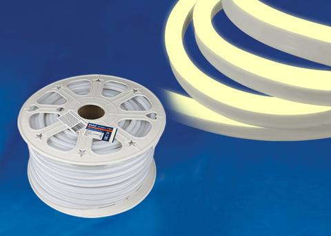 ULS-N21-2835-120LED/m-8mm-IP67-220V-8W/m-50M-WW Светодиодная гибкая герметичная лента. NEON. Бобина 50 м. Теплый белый свет (3000К). TM Uniel.