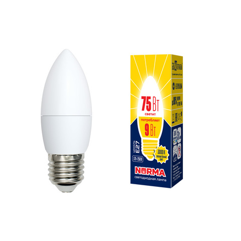 LED-C37-9W/WW/E27/FR/NR Лампа светодиодная. Форма