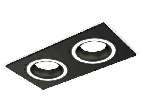 Комплект встраиваемого светильника XC7636040 SBK черный песок MR16 GU5.3 (C7636, N7111)