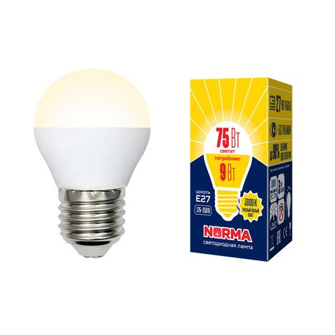 LED-G45-9W/WW/E27/FR/NR Лампа светодиодная. Форма