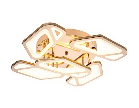 Потолочный светодиодный светильник с пультом FA589/5 GD золото 113W 590*590*120 (ПДУ РАДИО 2.4G)
