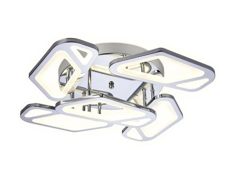Потолочный светодиодный светильник с пультом FA588/5 CH хром 113W 590*590*120 (ПДУ РАДИО 2.4G)