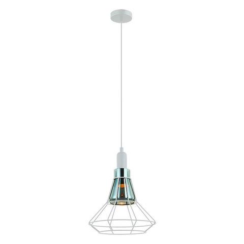 DLC-V301 GU10 WHITE Светильник декоративный подвесной, серия «Vintage». Без лампы. Материал металл, стекло. Цвет белый. ТМ Fametto