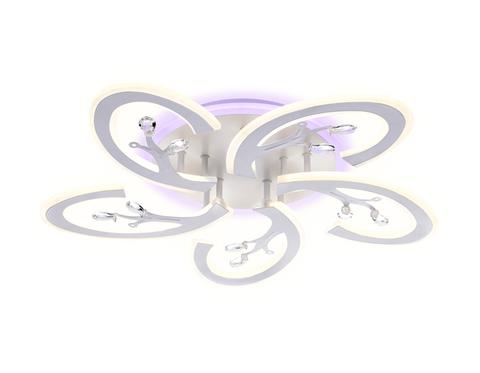 Потолочный светодиодный светильник с пультом FA512/5 WH белый 120W 610*580*80 (ПДУ РАДИО 2.4G)