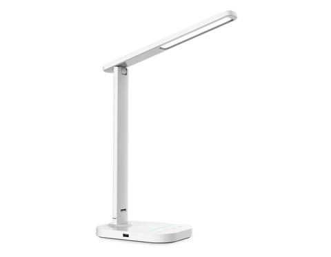 Светодиодная настольная лампа с USB портом и таймером DE444 WH белый LED 3000-6400K 7W