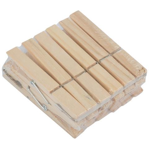 Набор прищепок деревянных, 12 шт