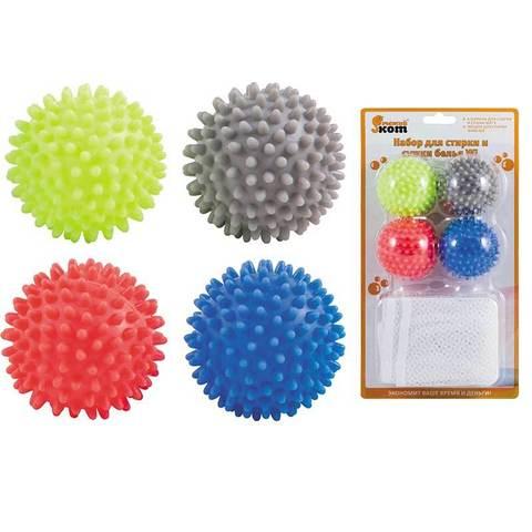 Набор для стирки и сушки белья WL: 4 шарика для стирки и сушки WB*4 и мешок для стирки WMB-002