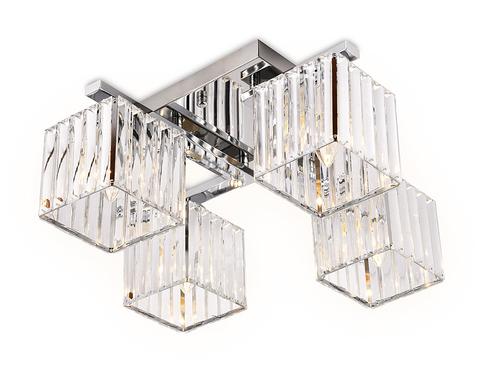 Потолочный светильник TR5213/4 CH/CL хром/прозрачный E27/4 max 40W 630*630*220