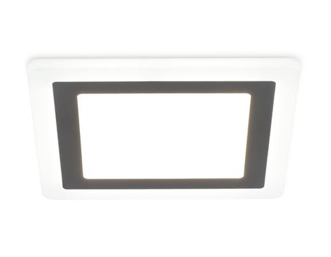 Встраиваемый cветодиодный светильник с подсветкой DCR390 3W+3W 4200K+4200K 220-240V 105*105*20 (A75*75)