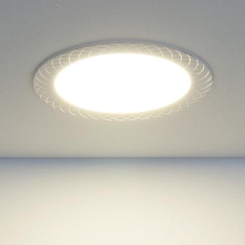 Встраиваемый светодиодный светильник DLR005 12W 4200K WH белый