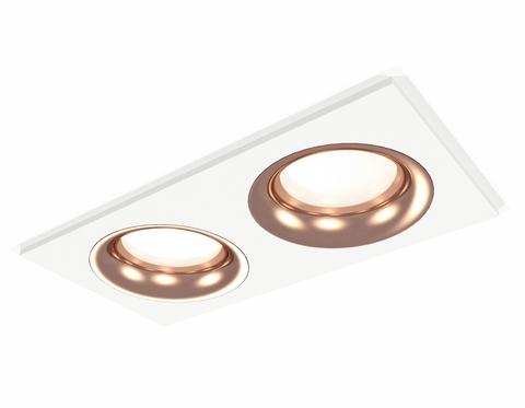 Комплект встраиваемого светильника XC7635006 SWH/PPG белый песок/золото розовое полированное MR16 GU5.3 (C7635, N7015)