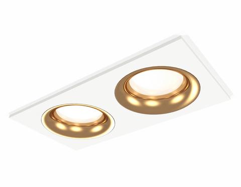 Комплект встраиваемого светильника XC7635005 SWH/PYG белый песок/золото желтое полированное MR16 GU5.3 (C7635, N7014)