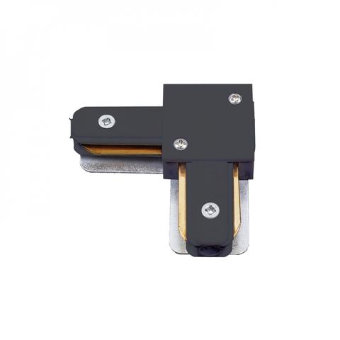 UBX-Q122 G21 BLACK 1 POLYBAG Соединитель для шинопроводов типа G, L-образный. Однофазный. Черный. ТМ Volpe.