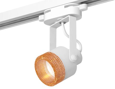 Комплект трекового однофазного светильникас композитным хрусталем XT6601064 WH/CF белый/кофе MR16 GU10 (C6601, N6154)