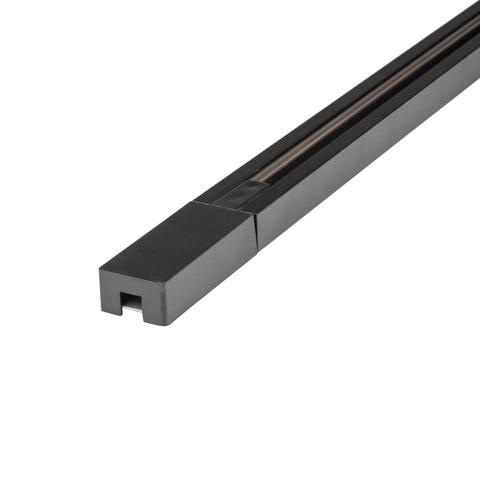UBX-Q122 GS2 BLACK 300 SET01 Шинопровод осветительный, тип G, в наборе с заглушкой и вводом питания. Однофазный. Черный. Длина 3м. ТМ Volpe.