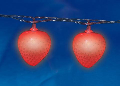 ULD-S0400-010/STB/2AA RED IP20 STRAWBERRY Гирлянда светодиодная на батарейках 2AA (не в/к), «Клубника», 4м. 10 светодиодов. Красный свет. Провод прозрачный. TM Uniel.