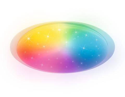 Светодиодный светильник c подсветкой RGB FF470 WH белый 60W D450*70 (ПДУ ИК)