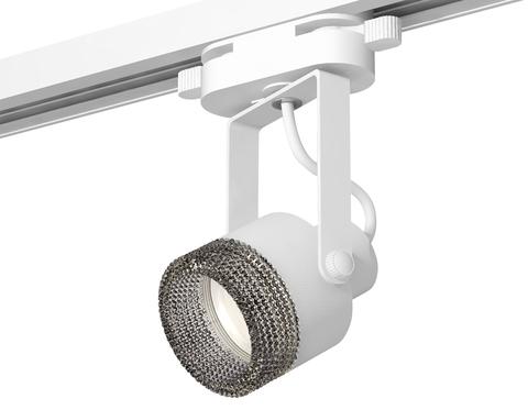 Комплект трекового однофазного светильникас композитным хрусталем XT6601061 WH/BK белый/тонированный MR16 GU10 (C6601, N6151)