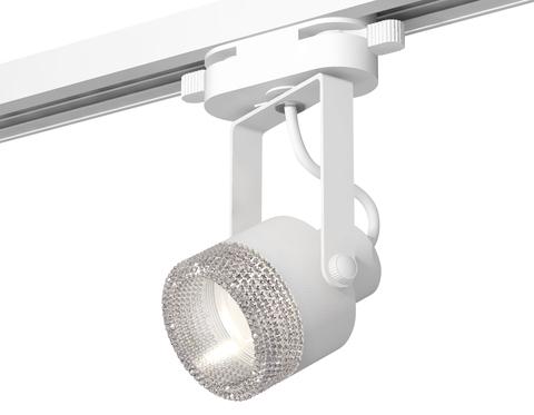 Комплект трекового однофазного светильникас композитным хрусталем XT6601060 WH/CL белый/прозрачный MR16 GU10 (C6601, N6150)