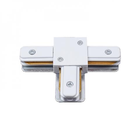 UBX-Q122 G31 WHITE 1 POLYBAG Соединитель для шинопроводов типа G, Т-образный. Однофазный. Белый. ТМ Volpe.