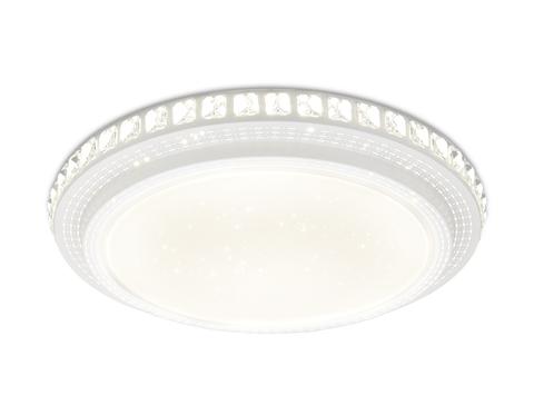 Потолочный светодиодный светильник с пультом FF93 WH белый 144W D800*95 (ПДУ ИК)