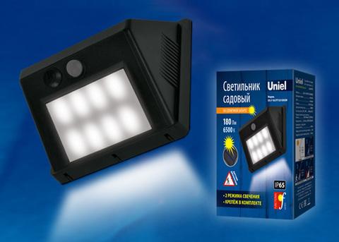USL-F-163/PT120 SENSOR Садовый светильник на солнечной батарее, с датчиком движения. Белый свет. 1*АА Li-Io аккумулятор в/к. IP65. TM Uniel.