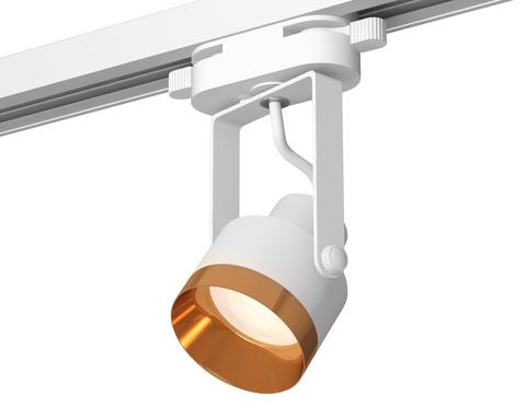 Комплект трекового однофазного светильника XT6601044 WH/PYG белый/золото желтое полированное MR16 GU10 (C6601, N6134)